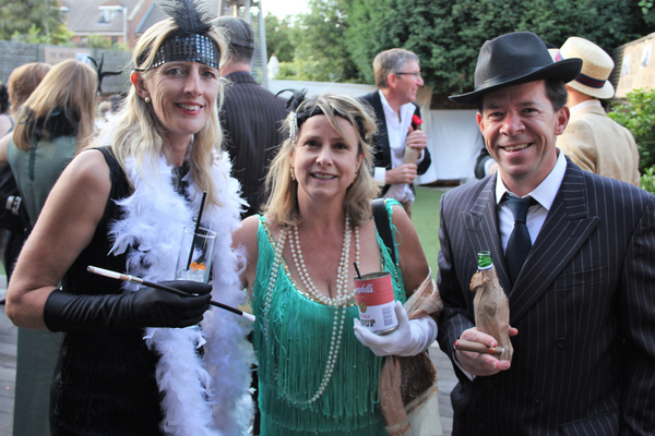 gangsters and molls at speakeasy party