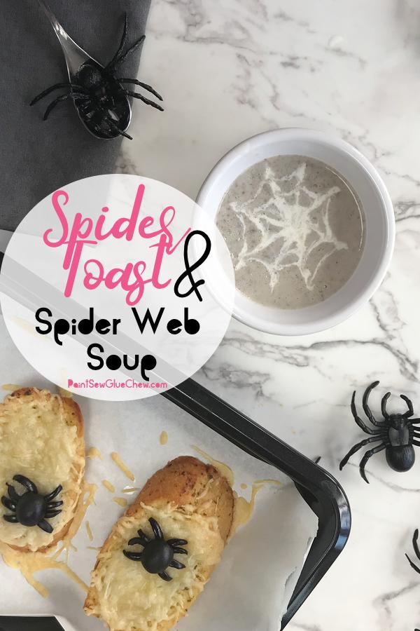 Halloween Spider Toast