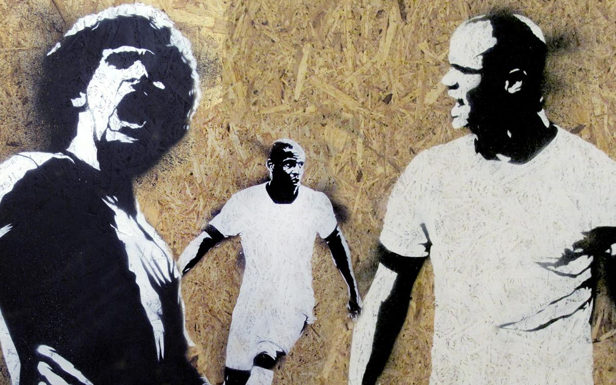 NEW BALANCE FOOTBALL EVENT STREET ART STENCIL GRAPHICS AND MURALS PAINTSHOP