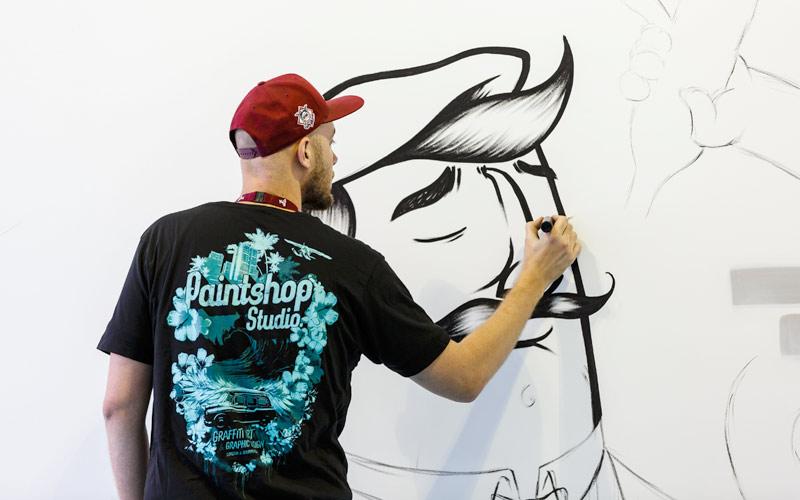 Imbibe Live Kensington Olympia London Line Drawing Illustration Art Event by Paintshop Studio