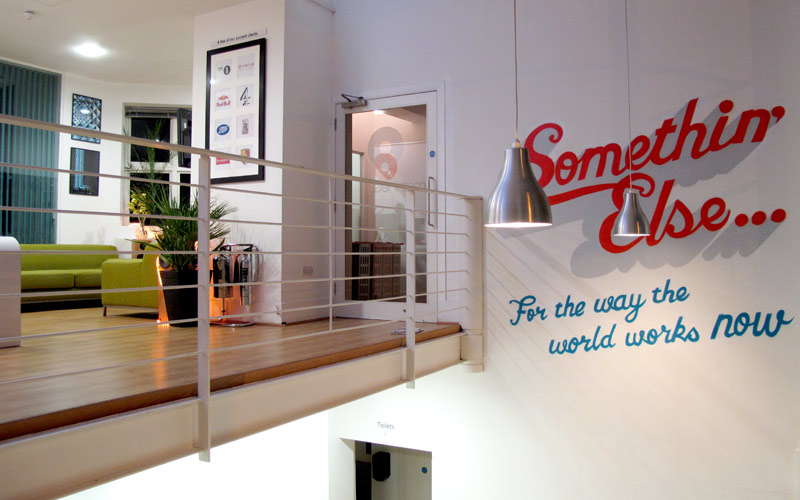 Somethin' Else London Office Interior Signwriting Murals by Paintshop Studio