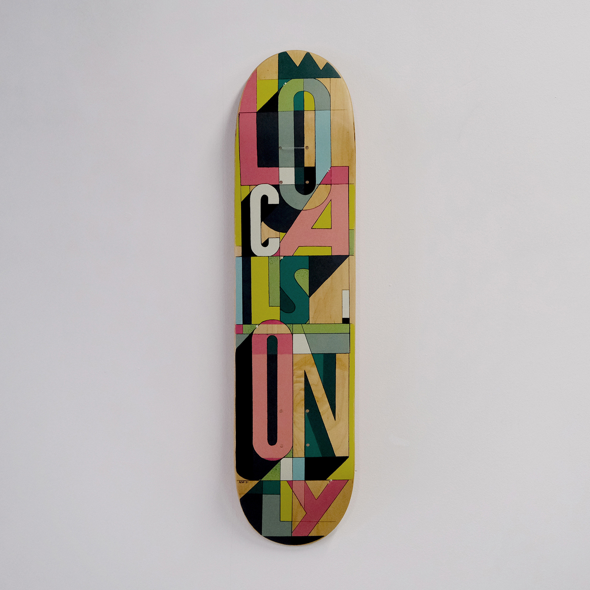Original Hand Painted Skateboard Deck saying Locals Only
