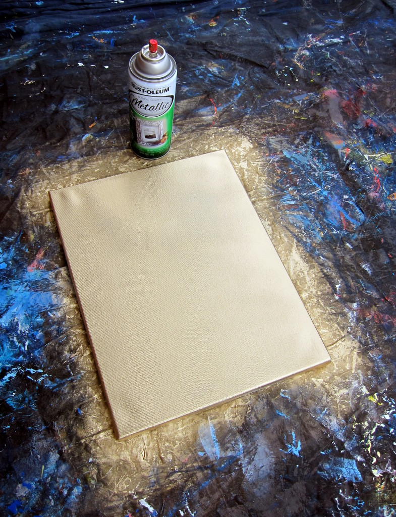 DIY Spray Paint Quote Canvas Painting
