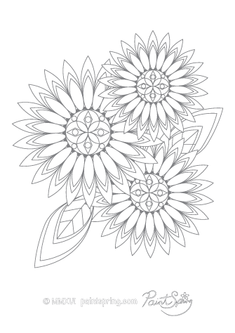 Printable Flower Adult Coloring Book Get 3 Free Pages