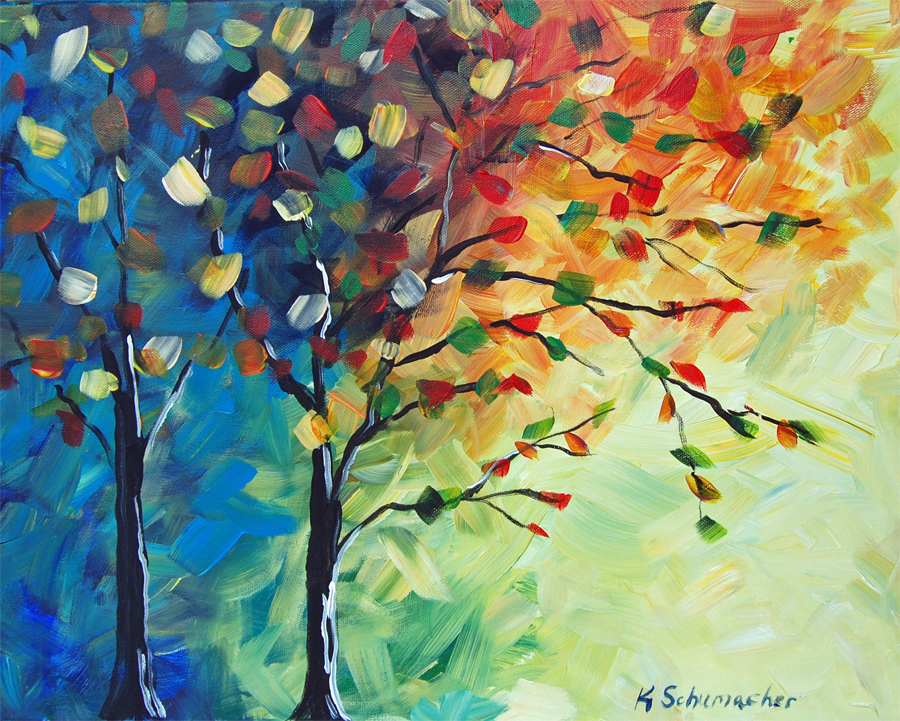tree of color painting
