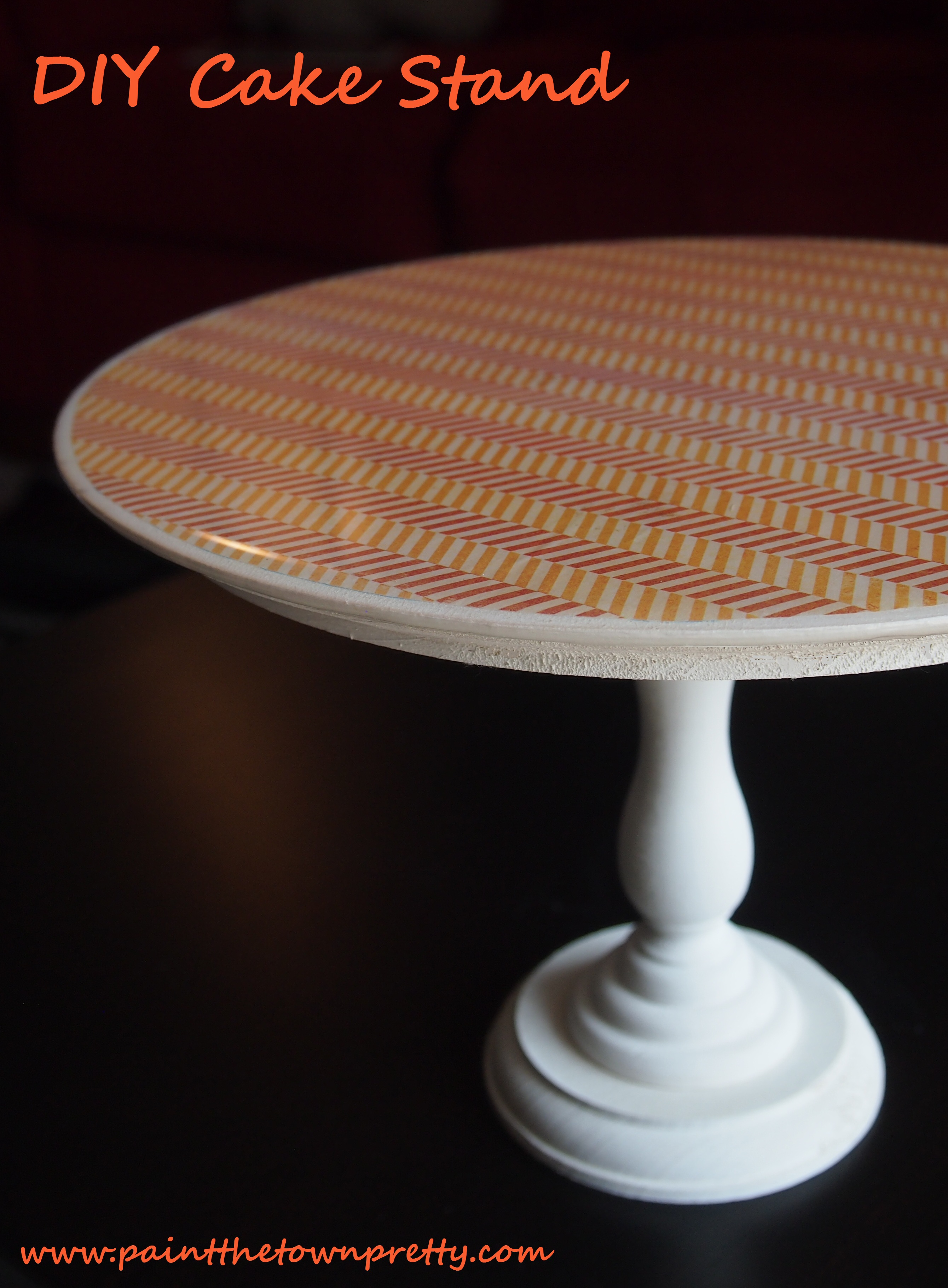 pub kitchen table denver cabinets diy epoxy cake stands | paint the town pretty