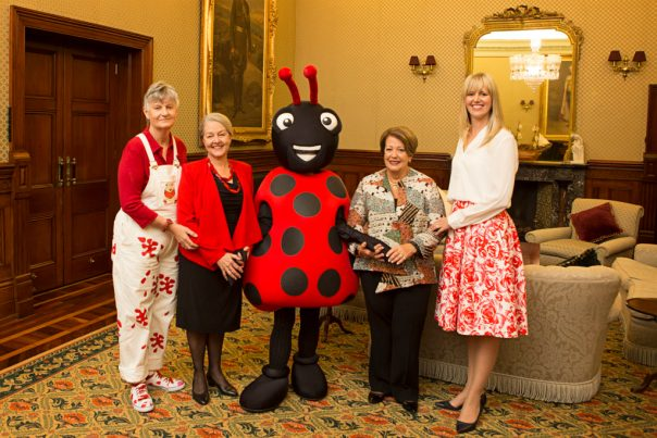 Lady Cosgrove and PTTR Board members with the Reading Bug at Admiralty House