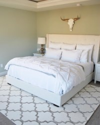 bedroom area rug | PAINT THE WORLD WHITE by Brynne