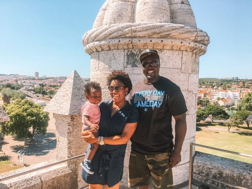 Lisbon, Portugal with a family at Belem Tower. A complete travel guide.