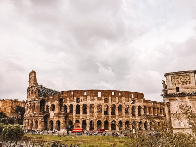 front of the Roman Colosseum