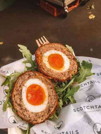 Popular Scotch eggs from Borough Market in London.