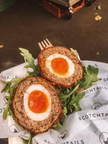 Popular scotch eggs from Borough Market in London