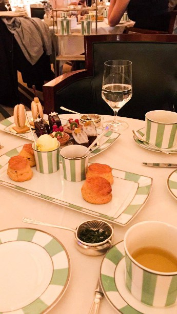 Pastries during afternoon tea.