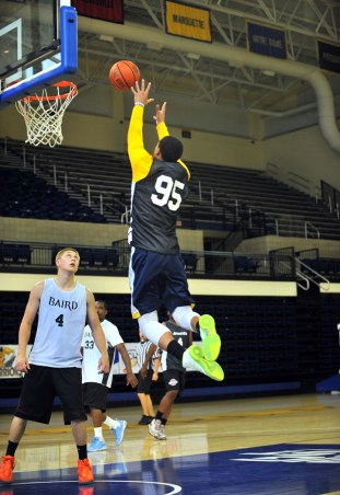 Juan Anderson is back at Marquette with something to prove. (Photo by Ryan Messier)