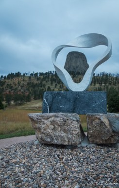 'Circle of Sacred Smoke' designed by Japanese sculptor Junkyu Muto, representing the first puff of smoke from the pipe used by Native Americans to pray.