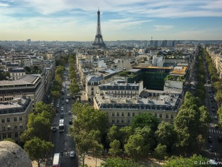 Views of Paris from the observation deck of the Arc