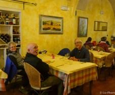 My three traveling amigos in our favorite Volterra restaurant