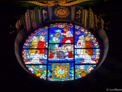 Beautiful stained-glass window in the cathedral.