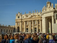 Can't avoid the crowds at St Peter's Basilica