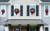 DIY Christmas Window Wreaths - Paint Yourself A Smile