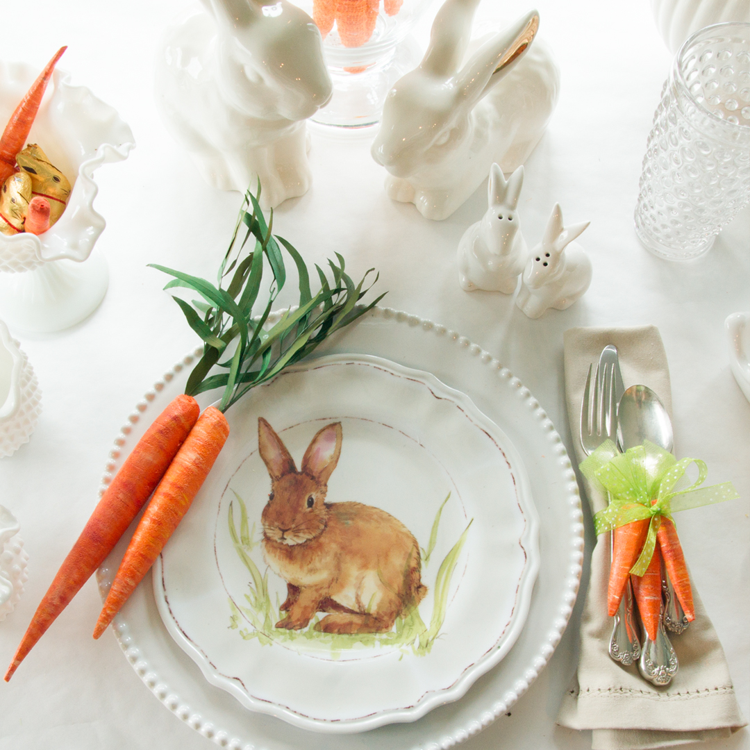 Create these cute Easter carrots napkin rings