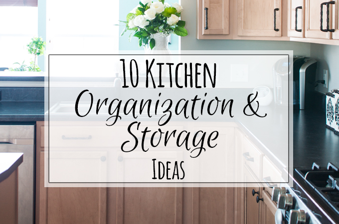 10 really easy tips and storage ideas to keep the Kitchen Clean and Uncluttered!