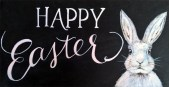 Easter bunny painted sign