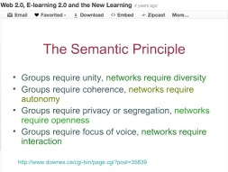 """Web 2.0, E-learning 2.0 and the New Learning ~ by Stephen Downes ~ CC = BY::NC::SA"""