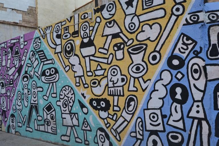 Detalle grafitis en valencia