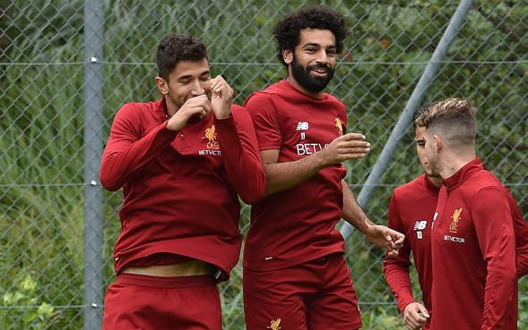Grujic and Salah Liverpool