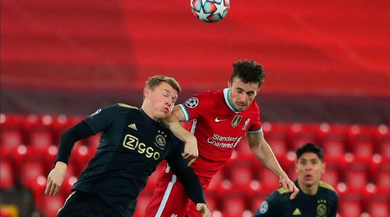 Perr Schuurs of Ajax vs Liverpool