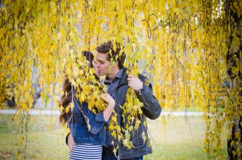 Fall Engagement Photography - Weeping Willow Couple Photos - Cochrane Wedding Photographer 17th Ave Calgary Engagement