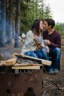 Campfire Engagement - Calgary Engagement Photos - Cochrane Forest Wedding - Woodland Engagement
