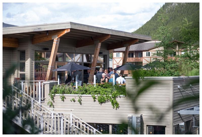 The Bison Restaurant Wedding Banff
