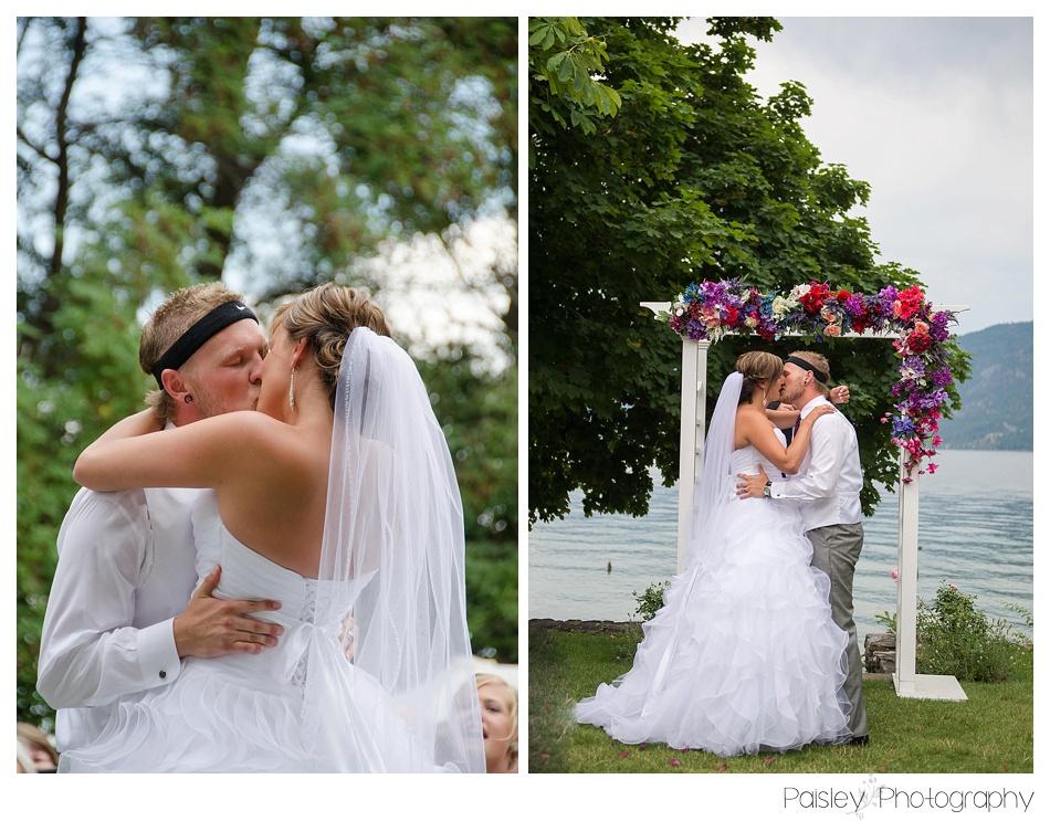 First Kiss!, Kelowna Wedding Photography, Kopje Park Wedding, Kopje Wedding Photography, Kopje Park BC, Kelowan Wedding, Kelowna Wedding Photography, Kelowna Wedding Photographer, Vernon Wedding Photography,