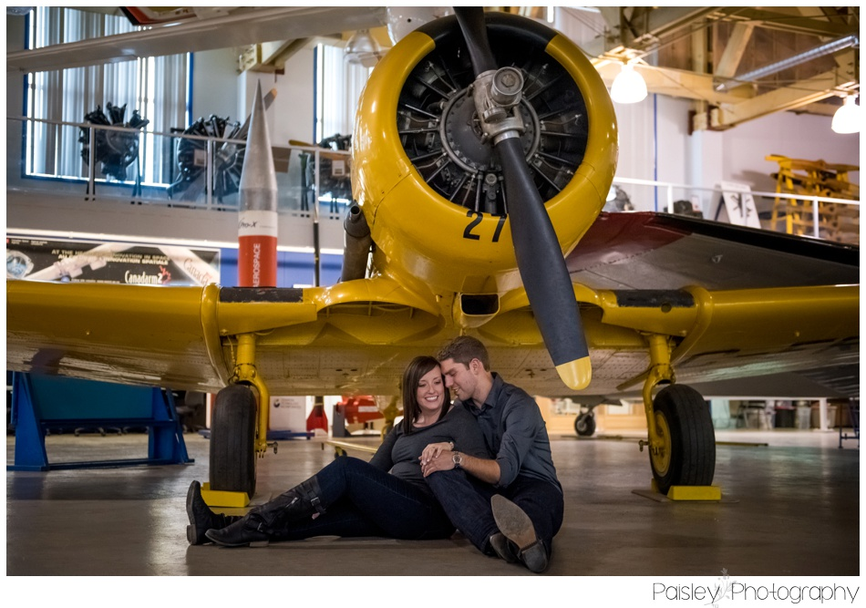 Calgary Aero Space Museum Engagement Photography