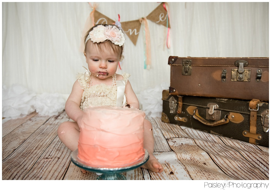 Coral Cake Smash Photography, Burlap Cake smash, Calgary Cake Smash Photographer, Calgary Cake Smash, Cochrane Cake Smash, Cochrane Cake Smash Photography, Cochrane Cake Smash Photographer,