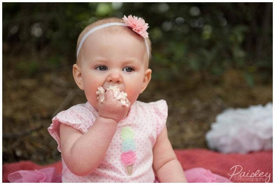 Pink Girlie Cake Smash Photography
