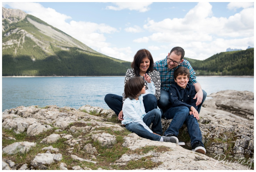 Family Photographer Lake Minnewanka Banff Alberta