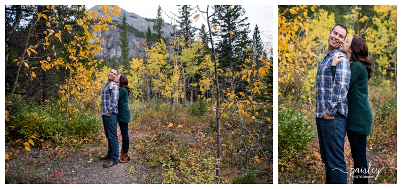 Autumn Canmore Engagement Photography