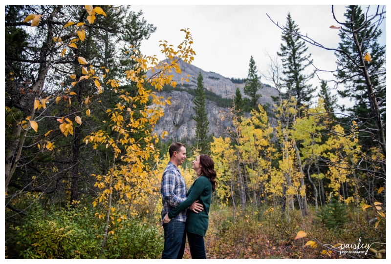 Fall Barrier Lake Engagement Photography