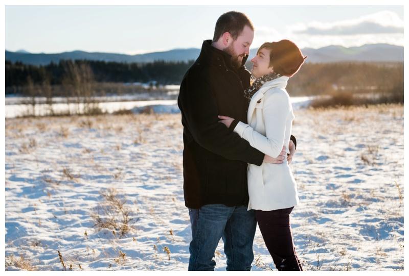 Winter Engagement Photos Cochrane Alberta