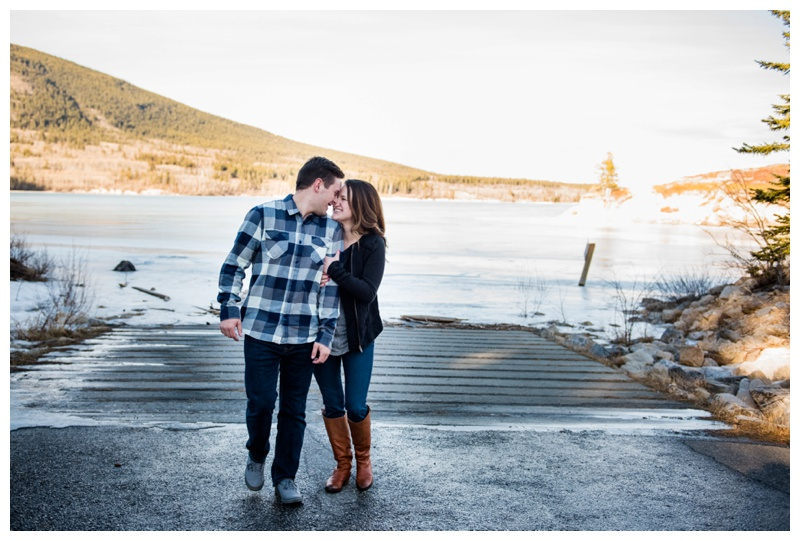 Barrier Lake Engagement Photo