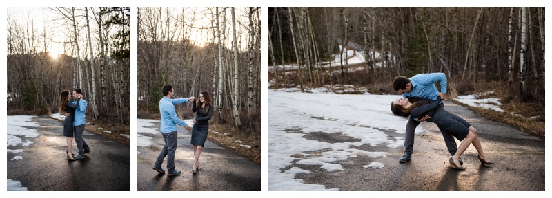 Winter Engagement Photography Canmore