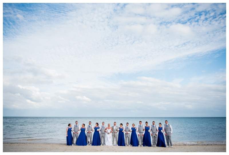 Beach Wedding Party Photography