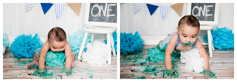 First Birthday cake Smash Photography Calgary