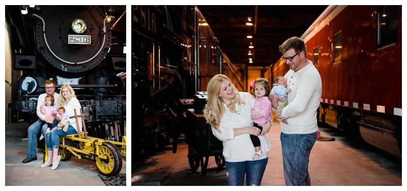 Calgary Train Yard Family Photography