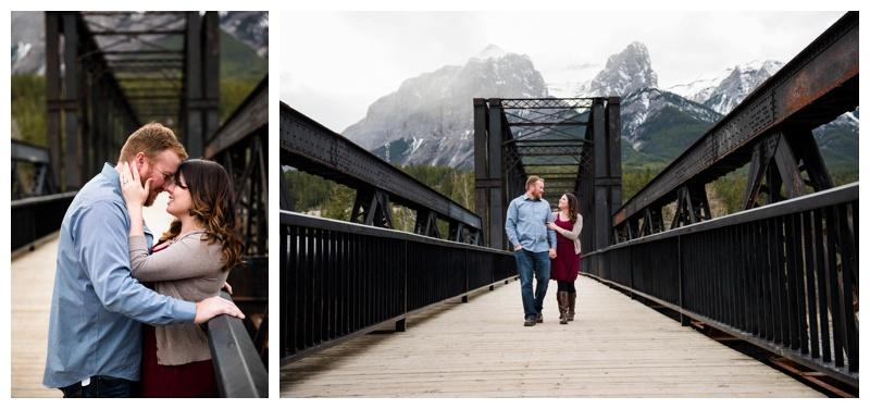 Canmore Bridge Engagement Photos