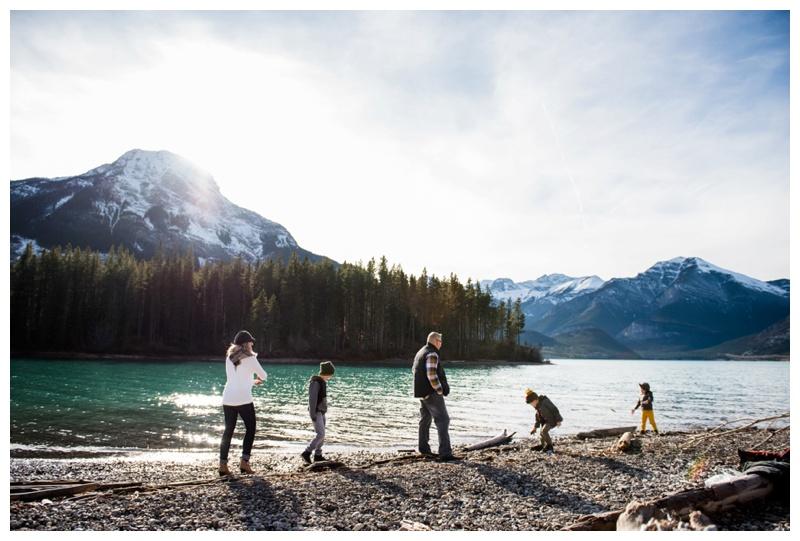 Candid Mountain Family Photos Canmore