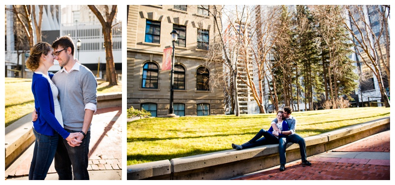 Downtown Calgary Engagement Photos